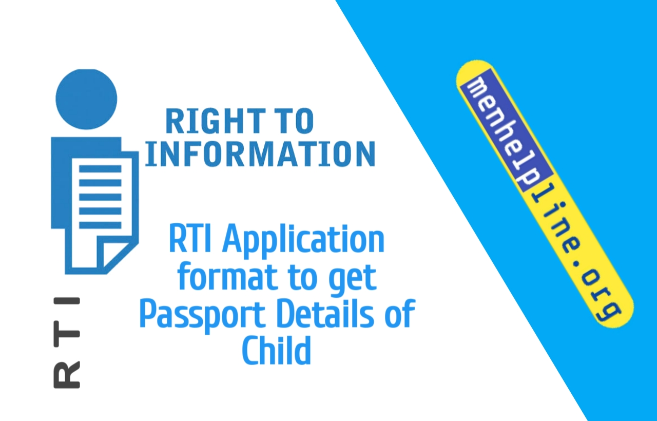 RTI Application format to get Passport Details of Child
